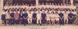 Foto bersama teman & guru di SMP Budi Murni 1 Medan