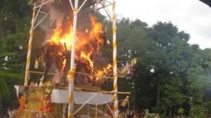 Pembakaran saat Pelebon