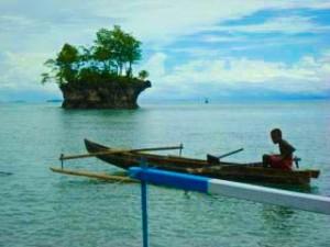 (Updated : 14/01 : ini foto pulau kecil kami itu, saya dapat dari teman abang saya tadi pagi... :)  )