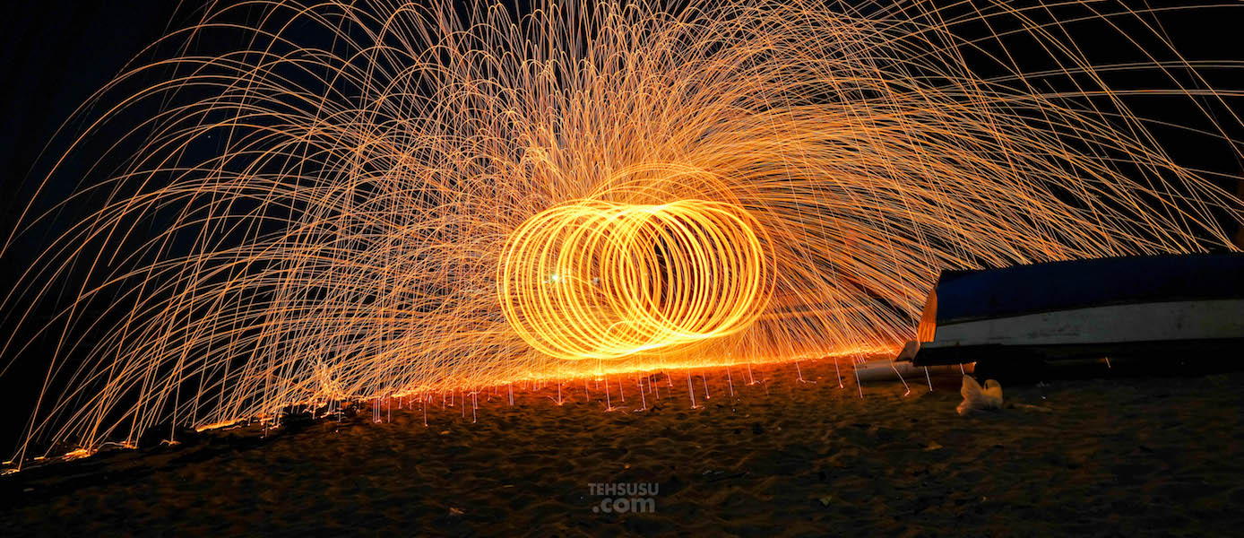 Steel Wool Photography di Bali