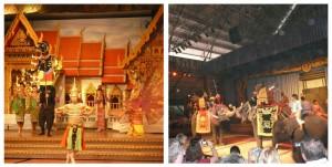 Di Nongnooch Garden, show yang bisa dinikmati adalah tari-tari, thai boxing, dan show gajah. Kalau malam sebelumnya kita melihat banci-banci bertubuh build up, di sini kita lihat penari-penari asli cowok dan cewek, yang berbadan mungil layaknya orang Asia.   Pertunjukan gajah yang berkelahi seperti kisah kolosal Thailand adalah pertunjukan favorit saya. So cool!