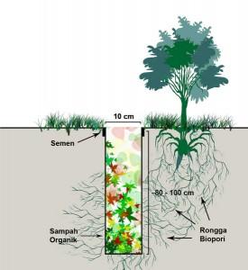 Gambar Biopori (Diambil dari Biopori.com)
