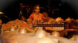 Peralatan gamelan di Sambi Resort