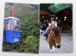 Ki: Untung sempat difoto saat balik, tadinya gak ngeh klo keretanya Vay sudah papasan. Ka: Foto sama kuda poni...