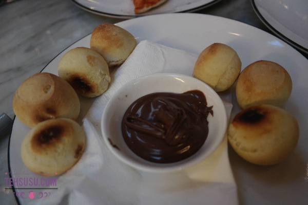 dough ball with nutella