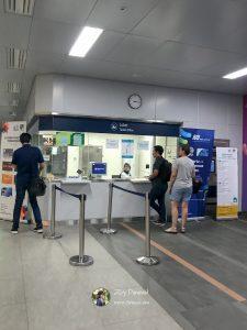 Kondisi Loket Tiket di hari kerja saat sore hari