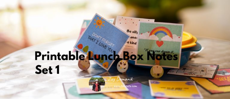 Printable Lunch Box Notes Set 1