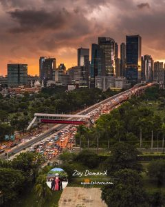 View dari Wyndham Hotel Jakarta