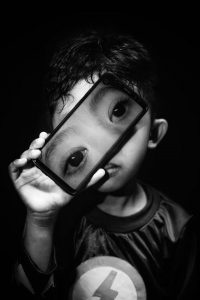black and white photography anak
