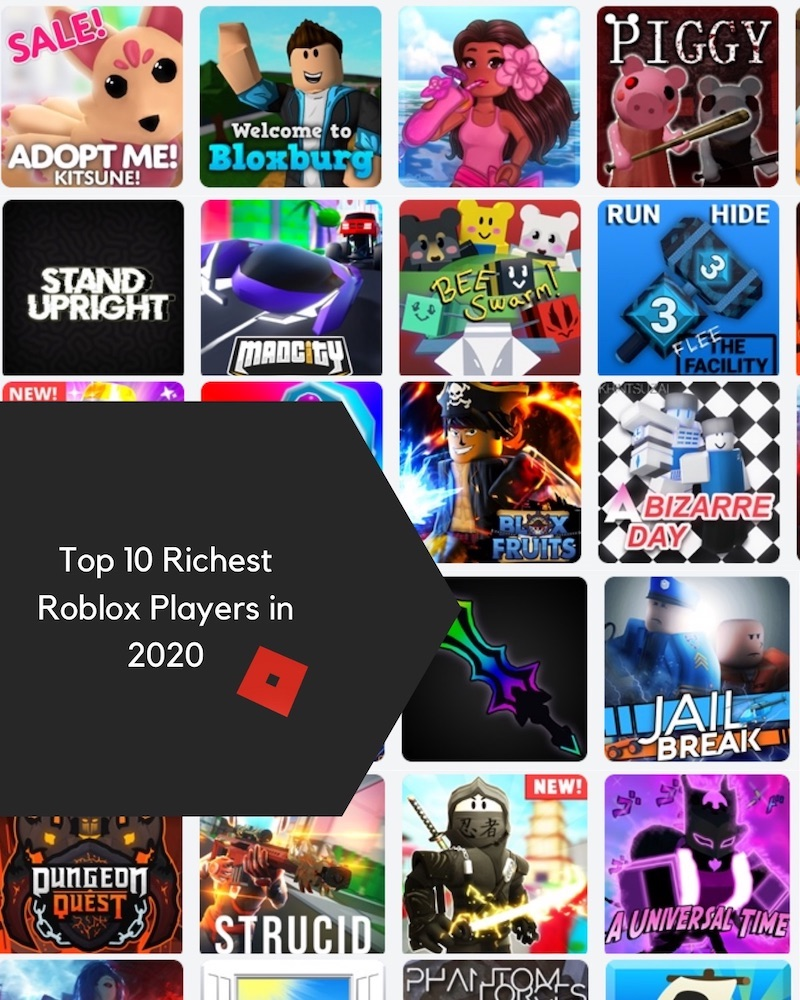 top 10 richest roblox players today