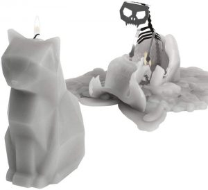 Gray Cat Candle