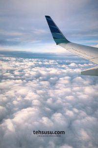 liburan saat pandemi naik pesawat
