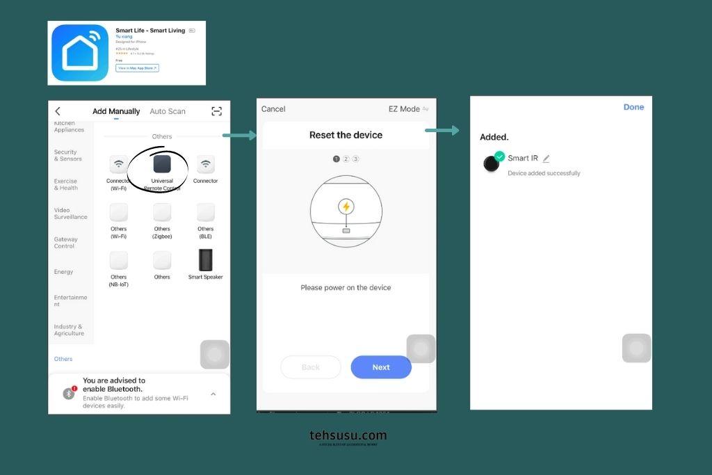 smart life untuk konek bardi ir remote