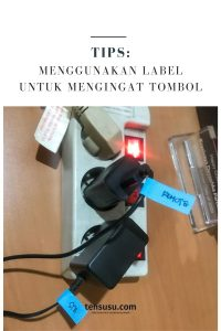 menandai tombol menggunakan label