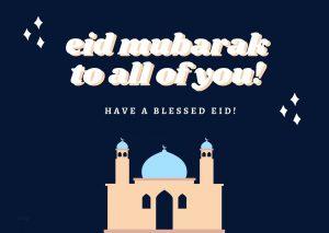 kartu ucapan eid mubarak