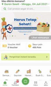 fitur di aplikasi sayurbox