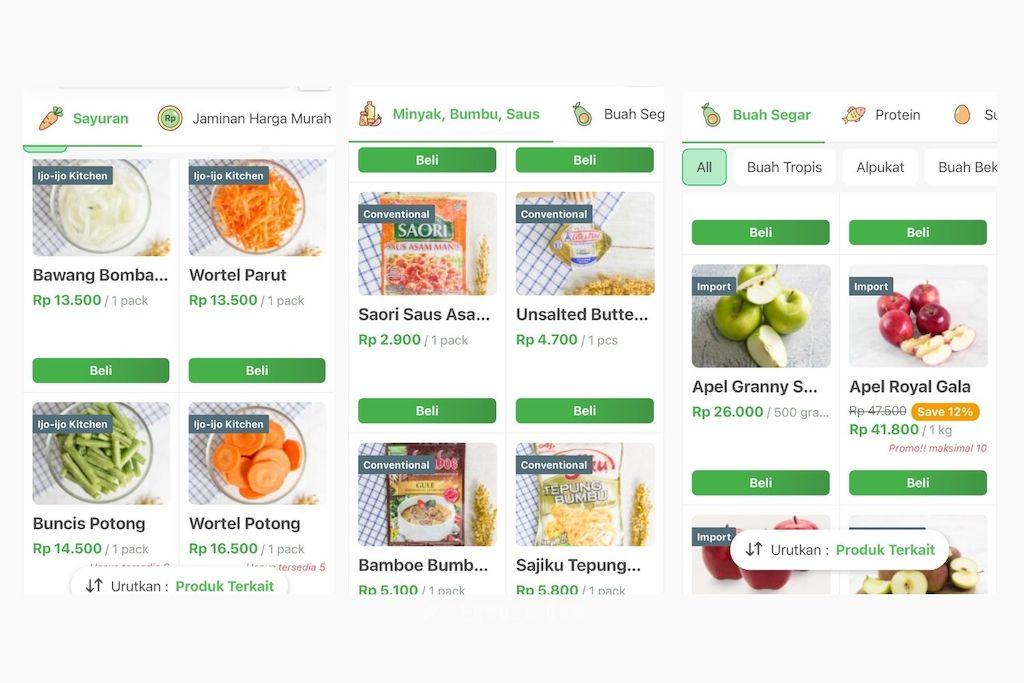 produk apa saja yang dijual di sayurbox