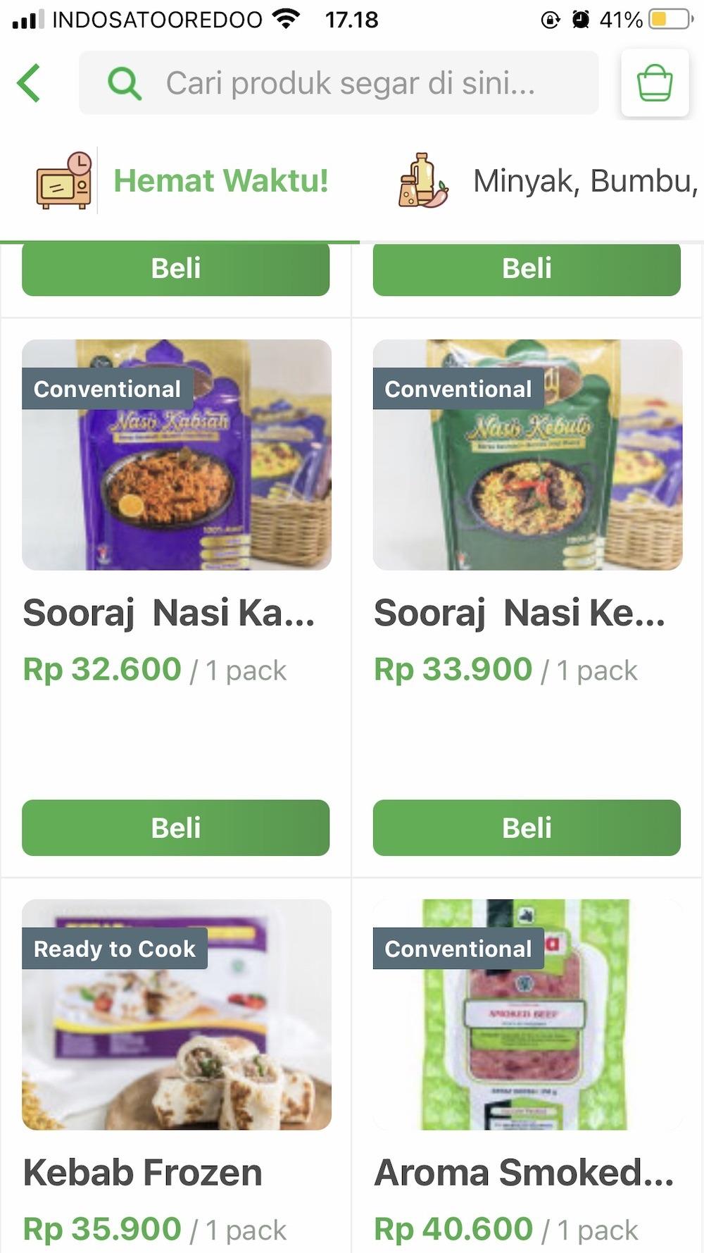 menu nasi kebuli di sayurbox